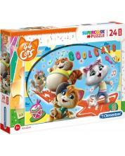 Puzzle Clementoni de 24 piese maxi - SuperColor Maxi 44 Cats