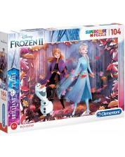 Puzzle holografic Clementoni de 104 piese - SuperColor Disney Frozen 2