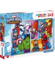 Puzzle Clementoni de 24 piese maxi - SuperColor Maxi Marvel Super Hero