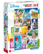Puzzle Clementoni din 24 piese maxi - SuperColor Maxi  Disney Dance Time