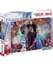 Puzzle Clementoni de 104 maxi piese - SuperColor Maxi Disney Frozen 2