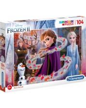 Puzzle stracucitor Clementoni de 104 piese- Frozen 2, Forta lui Anna