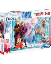 Puzzle Clementoni de 24 maxi piese - SuperColor Maxi Disney Frozen 2