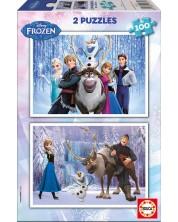 Puzzle Educa din 2 x 100 piese - Frozen