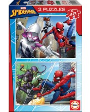 Puzzle Educa din 2 x 48 piese - Spiderman