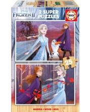 Puzzle Educa din 2 x 25 piese - Frozen 2