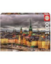 Puzzle Educa din 1000 de piese - Vedere din Stockholm, Suedia
