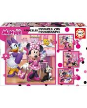 Puzzle Educa 4 in 1 - Minnie Happy Helpers