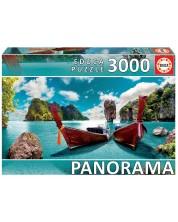 Puzzle panoramic Educa de 3000 de piese - Vedere din Phuket, Thailanda