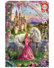 Puzzle Educa de 500 piese - Fairy and Unicorn