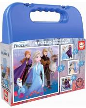 Puzzle in valiza Educa 4 in 1 - Fozen 2