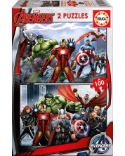 Puzzle Educa din 2 x 100 piese - Avengers