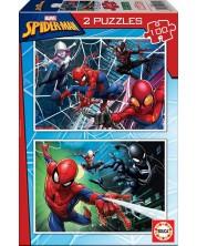 Puzzle Educa din 2 x 100 piese - Spider-man