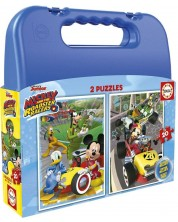 Puzzle in valiza  Educa de 2 x 20 piese - Mickey si prietenii