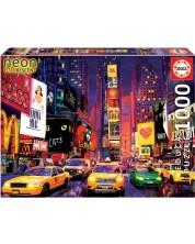 Puzzle Educa neon de 1000 de piese - Times Square, New York