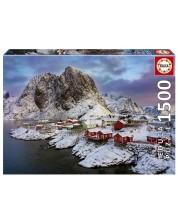 Puzzle Educa de 1500 piese - Insulele Lotofen, Norvegia