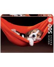 Puzzle Educa de 500 piese - Sleeping in a hammock