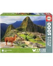 Puzzle Educa de 1000 piese - Machu Picchu, Peru