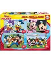 Puzzle Educa 4 in 1 - Mickey si prietenii
