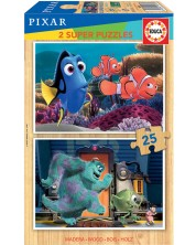 Puzzle Educa din 2 x 25 piese - Nemo and Monsters