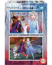 Puzzle Educa din 2 x 48 piese - Frozen 2