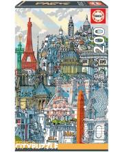 Puzzle cu sase dimensiuni Educa din 200 de piese - Paris