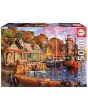Puzzle Educa de 5000 piese - Seara in port