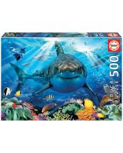 Puzzle Educa de 500 piese - Great White Shark