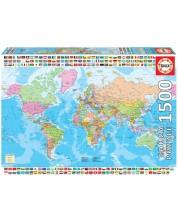 Puzzle Educa de 1500 piese - Political World Map