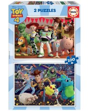 Puzzle Educa din 2 x 100 piese - Toy Story 4