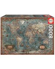 Puzzle Educa 8000 de piese - Harta istorica a lumii