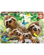 Puzzle Educa de 500 piese - Family of Sloths