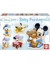 Puzzle pentru bebelus Educa 5 in 1 - Baby Mickey Mouse