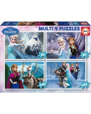 Puzzle Educa 4 in 1 - Frozen
