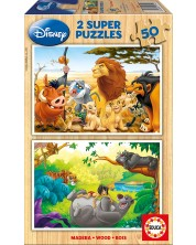 Puzzle Educa din 2 x 50 piese - Animal Friends