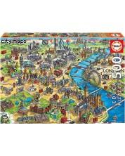 Puzzle Educa de 500 piese - London Map