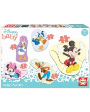 Puzzle pentru bebelus Educa 5 in 1 - Mickey and friends
