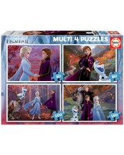 Puzzle Educa 4 in 1 - Frozen 2