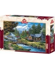 Puzzle Art Puzzle de 2000 piese - Two Cascades