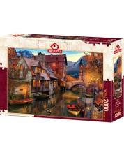 Puzzle Art Puzzle de 2000 piese - Canal Homes, David M.