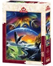 Puzzle Art Puzzle de 500 piese - Orca Aurora