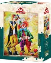 Puzzle Art Puzzle de 260 piese - The Musician Clowns