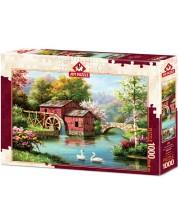 Puzzle Art Puzzle de 1000 de piese - Vechea moara rosie