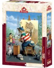 Puzzle Art Puzzle de 500 piese - The Painter Cat, Don Roth