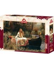 Puzzle Art Puzzle de 2000 piese - The Lady Of Shalott, 1888