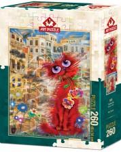 Puzzle Art Puzzle de 260 piese - The Red Cat