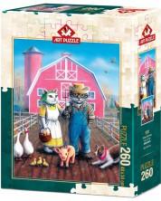 Puzzle Art Puzzle de 260 piese - Cat Farm