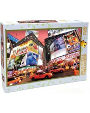 Puzzle Gold Puzzle de 1500 piese - Broadway, Times Square, NY