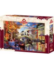 Puzzle Art Puzzle de 1500 piese - Rialto Bridge, Venice