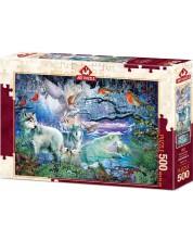 Puzzle Art Puzzle de 500 piese - Glacier Forest